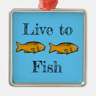 schwimmende Fische Silbernes Ornament