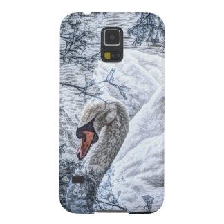 schwimmender weißer Schwan des romantischen Sees Galaxy S5 Cover