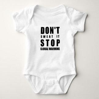 Schwitzen Sie es nicht Endglobale Erwärmung Baby Strampler