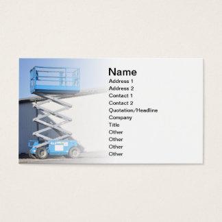scissor Aufzug oder Plattform Visitenkarten