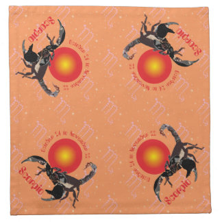 Scorpio October 24 to November 22 Cloth Napkins Stoffserviette