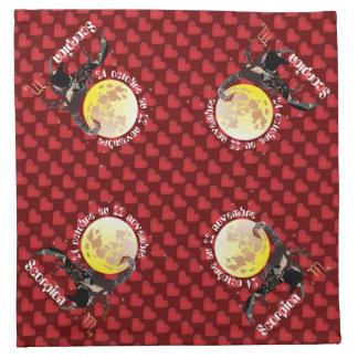 Scorpion Serviettes en tissu Stoffserviette