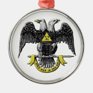 scotritemason Kopie Rundes Silberfarbenes Ornament