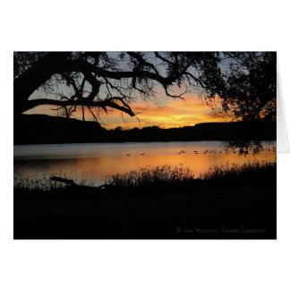 Scott See-Staats-Park-Sonnenuntergang-Karte Karte