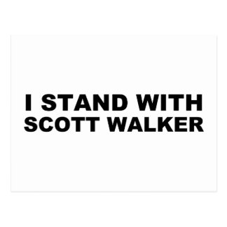 Scott-Wanderer, den ich stehe Postkarte