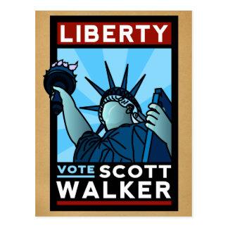 Scott-Wanderer-Freiheit Postkarte