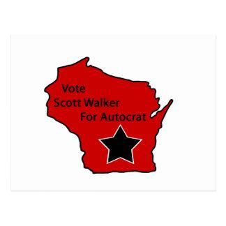 Scott-Wanderer für Autokraten Postkarte