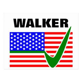 Scott-Wanderer für Flagge Präsidenten-2016 USA Postkarte