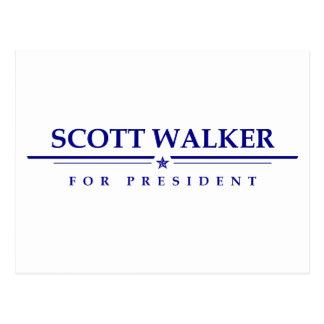 Scott-Wanderer für Präsidenten Postkarte