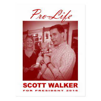 Scott-Wanderer: Gegen die Abtreibung Postkarte