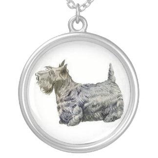 Scottish-Terrier-Hundehalskette Versilberte Kette