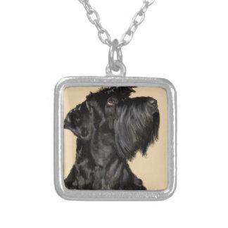 Scottish Terrier Versilberte Kette