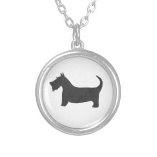 Scottish Terrier Versilberte Kette