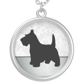 Scottish-Terrierscottie-Hund Versilberte Kette