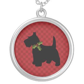 Scottish-Terrierscottie-Hundeweihnachten Versilberte Kette