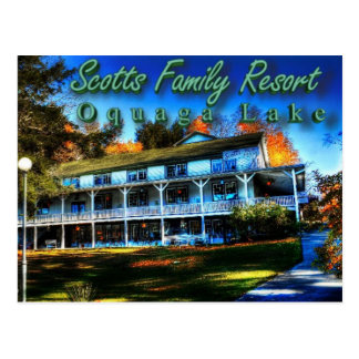 Scotts Familien-Erholungsort-Postkarte Postkarte