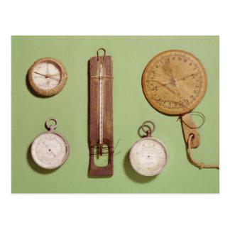 Scotts Kompass, Thermometer, Sundial, Postkarte