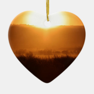 Scottsbluff Nebraska, das Keramik Herz-Ornament