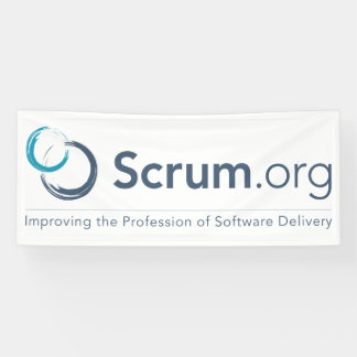 Scrum.org-Logo-Fahne - Vinyl Banner