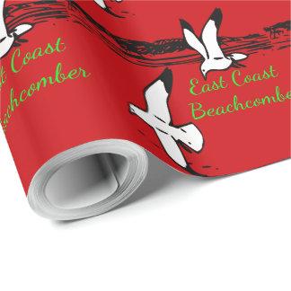 Seagull Beach East Coast Beachcomber gift wrap Geschenkpapier