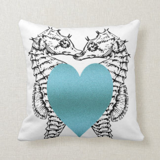Seahorse_Love (c) Turquoise_Blue_Everyday-Med Kissen