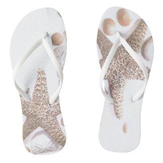 Seashells Flip Flops