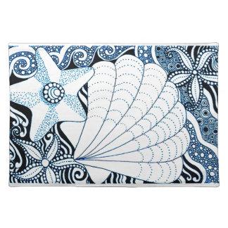Seashells Stofftischset