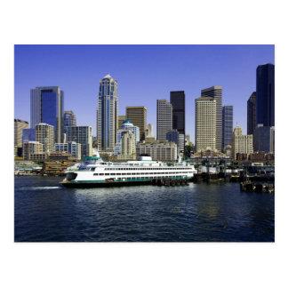 Seattle-Fähren-Washington-Staat Postkarte