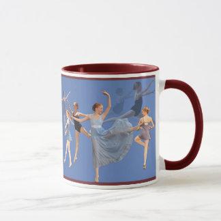 Sechs Ballerina-Tanzen Tasse