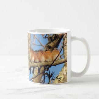 Sechs Drosseln, die auf einem Baumast sitzen Kaffeetasse