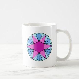 Sechs gezeigter Stern Gem1 Kaffeetasse