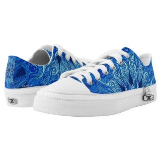 Sechzigerjahre Blau-Schuhes Niedrig-geschnittene Sneaker