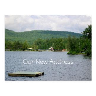 See-Ansicht-neue Adresse Postkarte