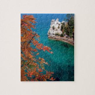 See dargestellte Felsen stützen überlegenes Jigsaw Puzzles