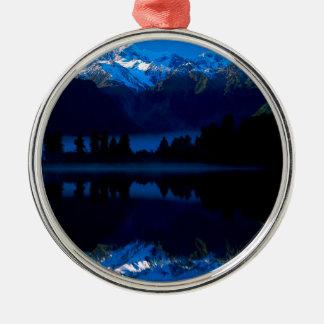 See-Maurer reflektiert Tasman Koch Neuseeland Rundes Silberfarbenes Ornament