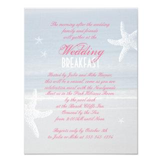 Seeansicht-Hochzeits-Frühstücks-Einladung 10,8 X 14 Cm Einladungskarte