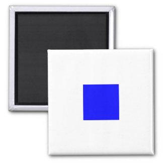 Seeflaggen-Alphabet-Zeichen-Buchstabe S (Sierra) Quadratischer Magnet
