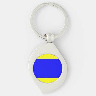 Seeflaggen-Buchstabe D (Dreieck) Schlüsselanhänger