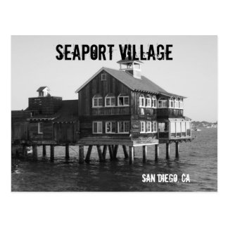 Seehafen-Dorfpostkarte Postkarte