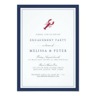 Seehummer-Verlobungs-Party Einladung