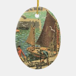 Seeleute mit Ziegeln gedeckt Keramik Ornament