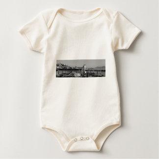 Seelöwen B&W Pier-39 Baby Strampler