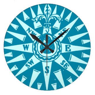 Seemann-blaue Kompassuhr Uhr