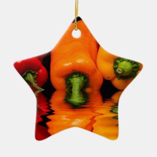 SeemischPaprikaschoten Keramik Stern-Ornament