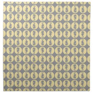 Seepferd-Muster in Gelbem und im Grau Stoffserviette