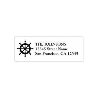 Seeschiffsradselbst, der Adressen-Briefmarken mit Permastempel