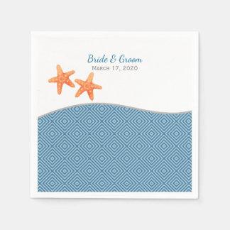 Seestarfish-Hochzeit Papierservietten