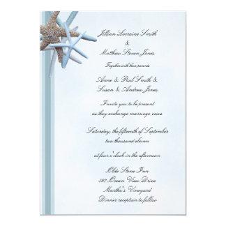 Seestern-12x18, flache Hochzeits-Einladung 12,7 X 17,8 Cm Einladungskarte