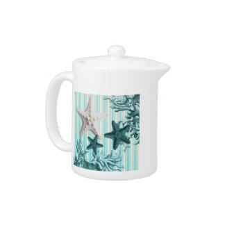 Seestreifenaqua Seashells-Blau Starfish
