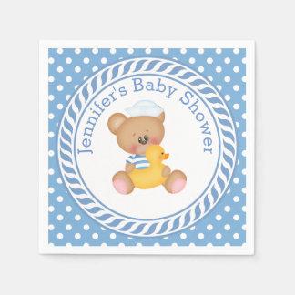 SeeTeddybär-Babyparty Papierservietten